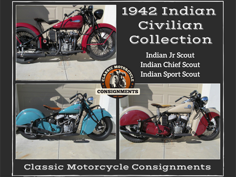 1942 Indian Motorcycles — Civilian Collection