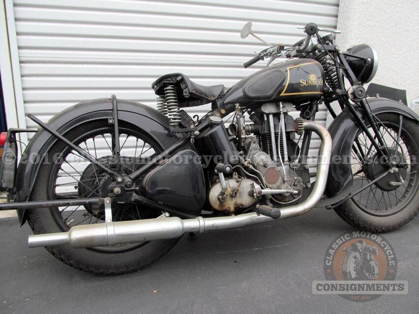 1936 Sunbeam 500 Motorcycle – Colver Col