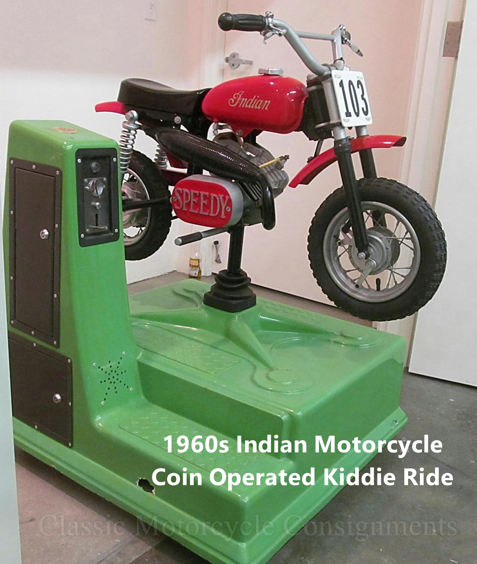 Vintage 1960s/70s Indian Motorcycle Coin Operated Kiddie Ride